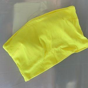 Aerie long line neon yellow swim bandeau